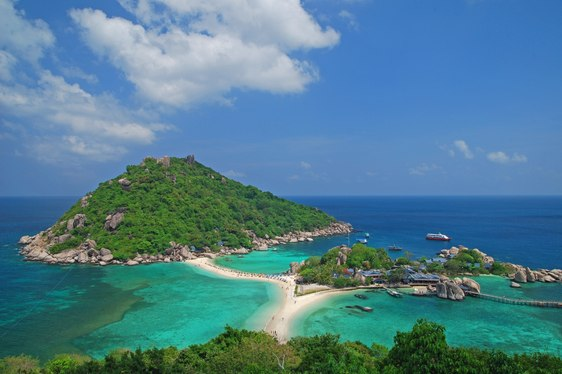 Aerial view of off-shore Thailand