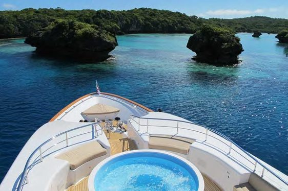 Superyacht MASTEKA 2 in the South Pacific Islands