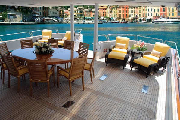 Lady J Yacht Aft deck