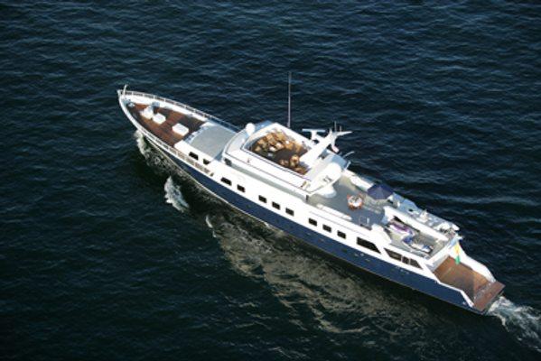 Aga 6 Yacht Aerial View