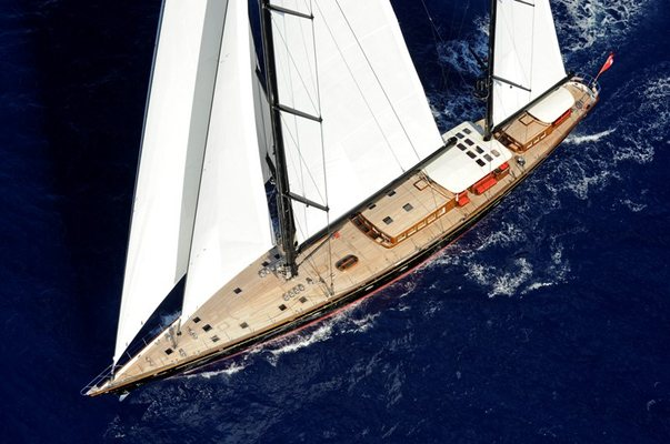 Marie Yacht Aerial View