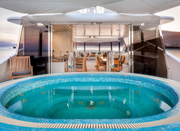 View of Jacuzzi onboard Odyssea superyacht