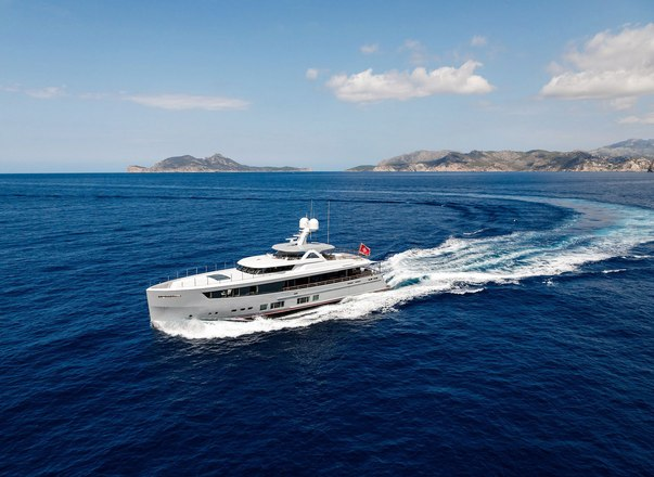 Brand new 36m MANA joins the Mediterranean charter fleet