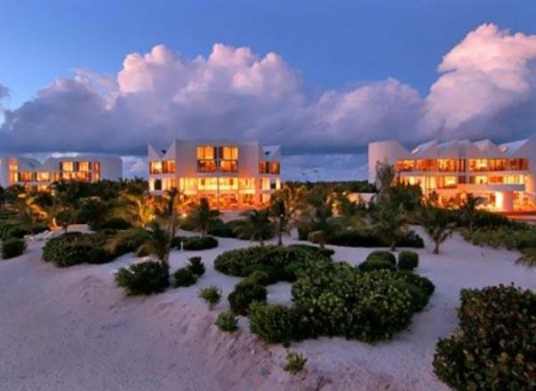 Sun sets over Altamer Resort in Anguilla