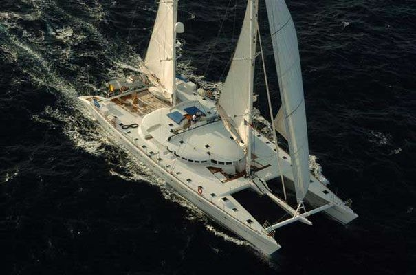 Douce France Yacht Aerial View