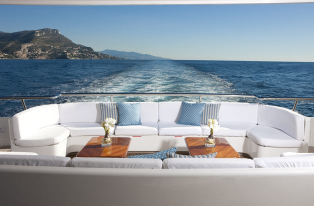 La Tania Aft Deck Seating
