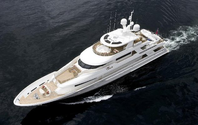 Milk Money  Yacht Running Shot - Aerial