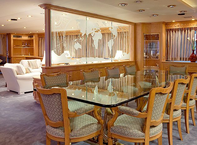 Lady rose yacht charter price hitachi zosen luxury yacht for H o rose dining room