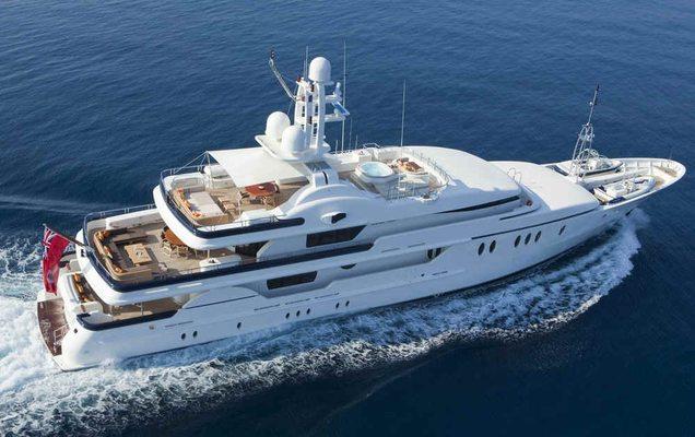 Deja Too Yacht Aerial View