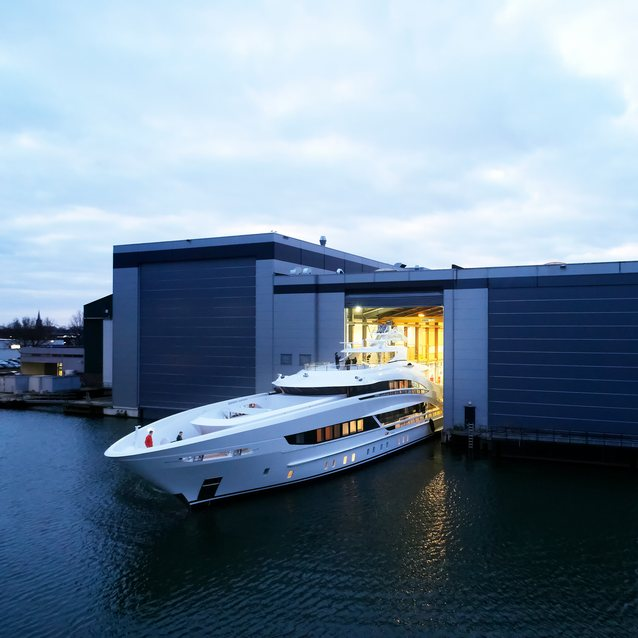 Heesen's 50m Project Triton ready for sea trials