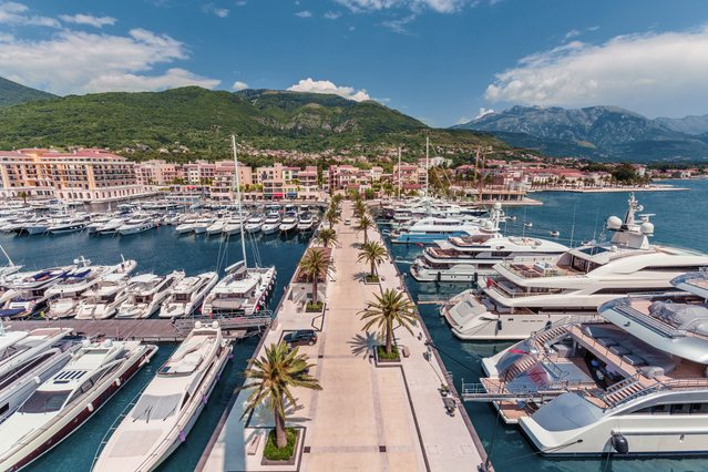 superyachts berthed in Porto Montenegro