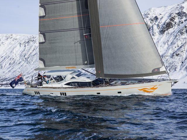 sailing yacht FIREBIRD cruising on a yacht charter in Norway