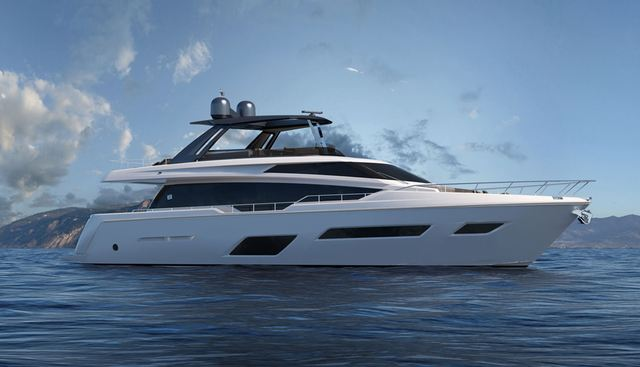 Ferretti 780 New Charter Yacht