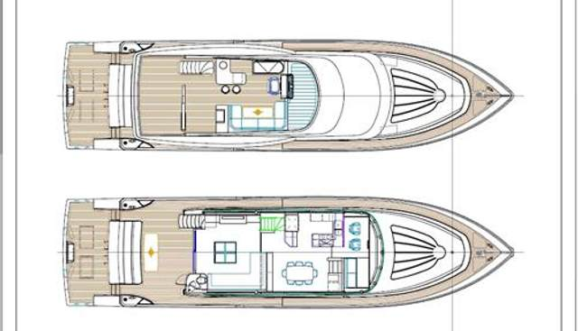 Johnson 83' FLYBRIDGE w/HYDRAULIC PLATFORM Charter Yacht - 2