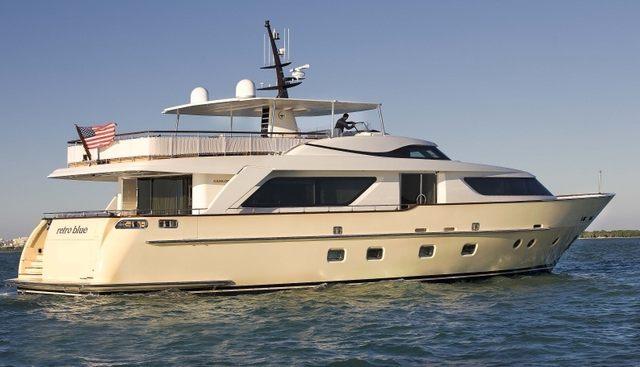 Retro Blue Charter Yacht - 3
