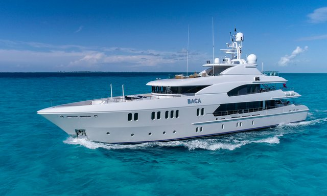43m BACA offers Thanksgiving yacht charter special in the Bahamas