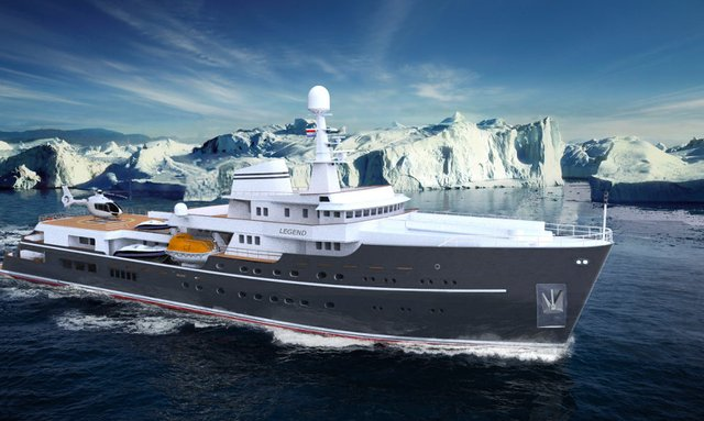 Expedition Yacht LEGEND Undergoing Refit