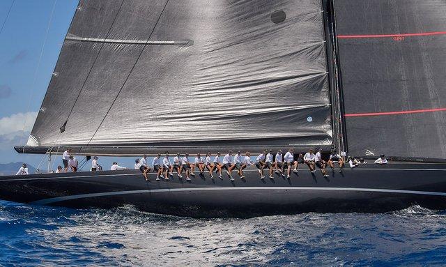 Sailing yachts prepare for 2019 St Barths Bucket Regatta