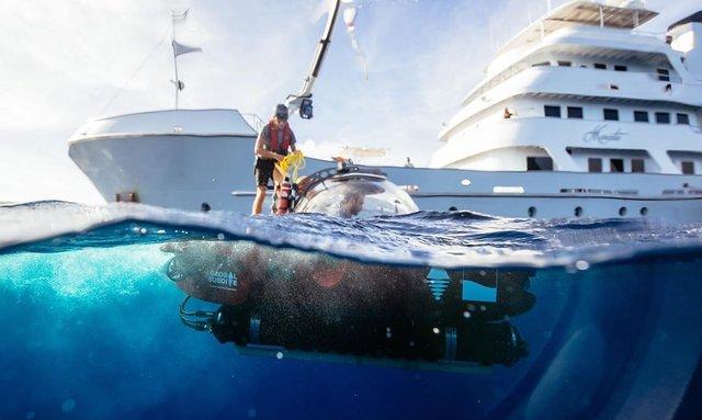 Explorer yacht MARCATO submarine yacht charter experience