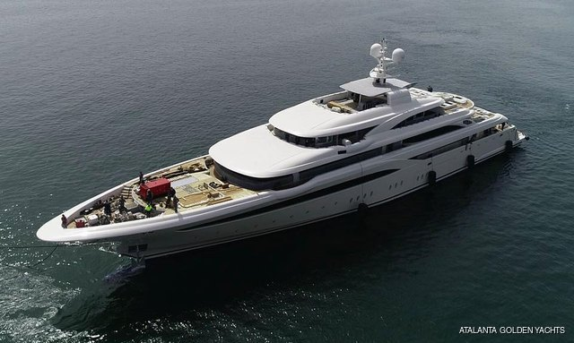 New 85m M/Y O'PTASIA launched by Golden Yachts