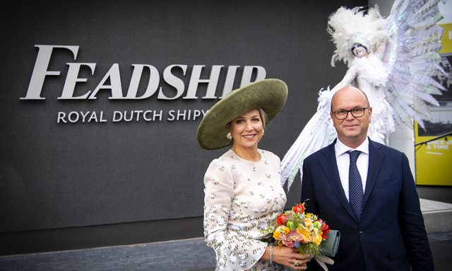 New eco-friendly Feadship yard opened by Queen Maxima of the Netherlands