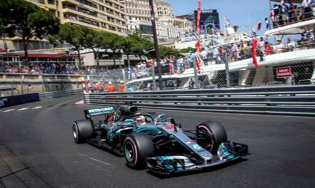 Car on circuit during Monaco Grand Prix