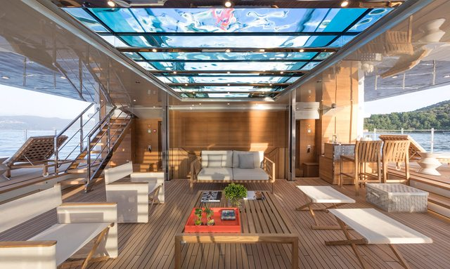 Bright and airy beach club on Lady Lena