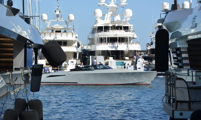 Superyachts in Monaco during Yacht Show
