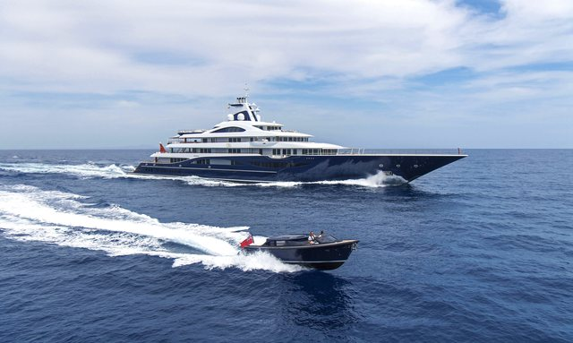 111m superyacht TIS will be the largest yacht ever to attend the Monaco Yacht Show