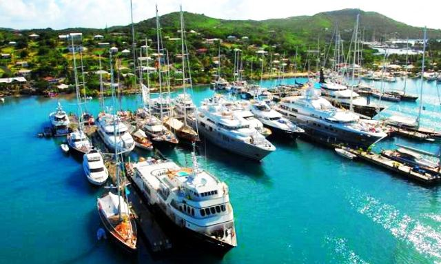 Superyachts arrive for Antigua Charter Show