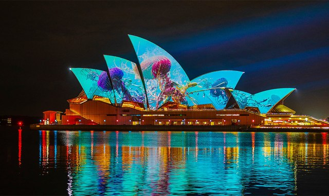 Vivid Sydney illumination