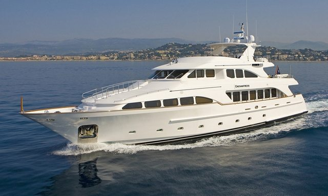 ENCHANTRESS cruising in the East Mediterranean