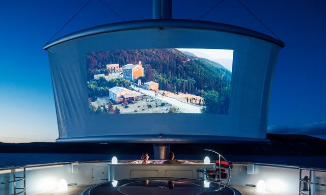 Outdoor Cinema on Maltese Falcon