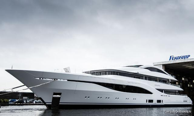 75m Feadship superyacht ARROW hits the water