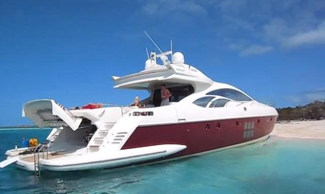 Luxury yacht charter Bahamas on board Azimut 86