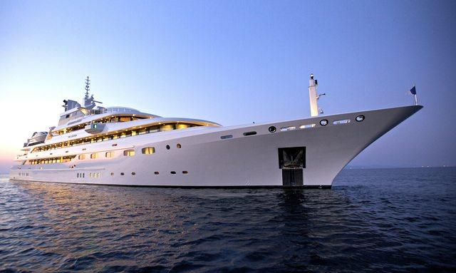 O'MEGA superyacht on sea