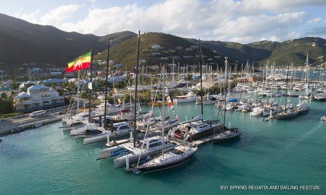 Boats at Nanny Cay marina