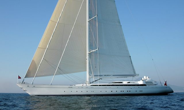 Charter yacht M5 at anchor
