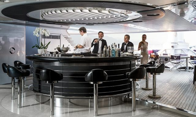 Unique Indoor/Outdoor Bar on Maltese Falcon