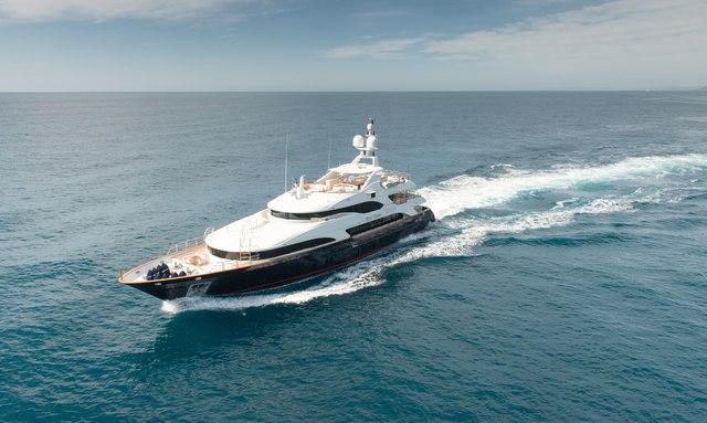 Motor yacht BLUE VISION cruising in the Mediterranean