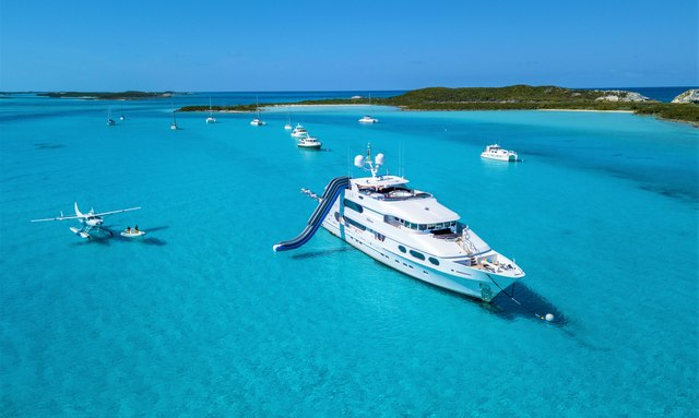 Superyacht MILESTONE at anchor