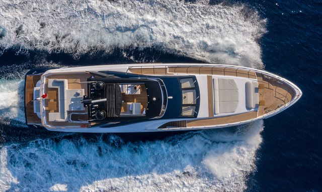 View from above of luxury yacht ARSANA