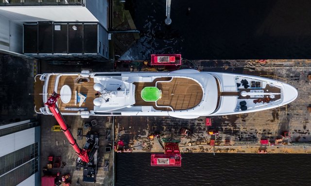 Charter yacht GALENE launches at Amels