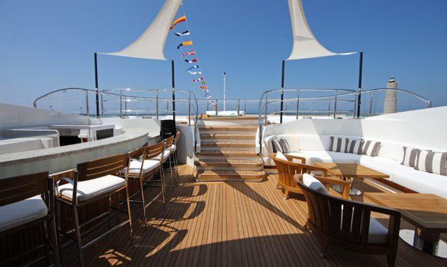 Extensive exterior deck space on Seanna