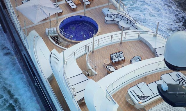 Convivial upper deck aft on Tranquility