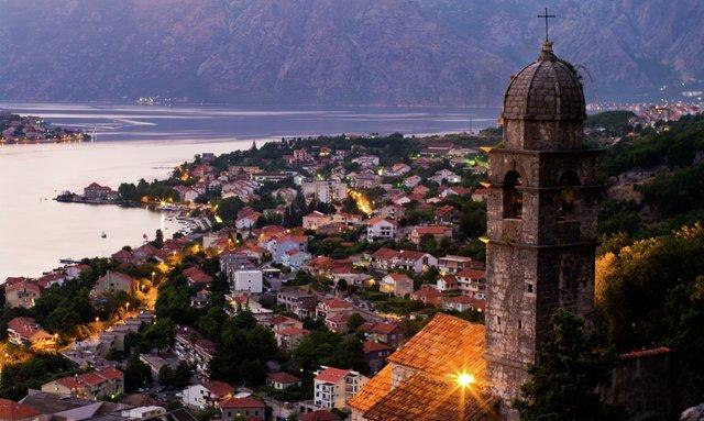 Montenegro at sunset