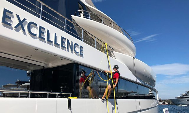 Live photos: Final preparations for 2019 Monaco Yacht Show
