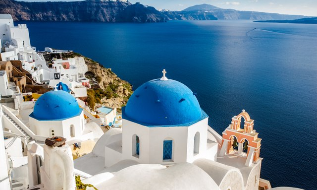 Island of Santorini, a popular location for Greece yacht charters