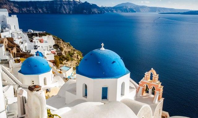 Island of Santorini, a popular location for Greece yacht charters