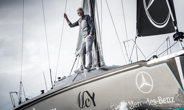 Nuvolari and Lenard co-founder Dan Lenard on board his yacht SCIA